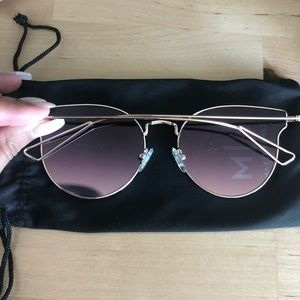 Accessories - Max Frames Pink Tint Sunglasses